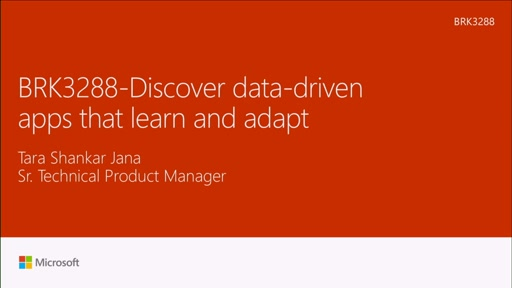 Discover data driven apps that learn and adapt
