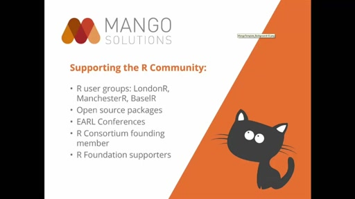Sponsor Talk Mango Solutions