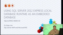 Demo: Using SQL Server 2012 Express Local Database Runtime as an Embedded Database
