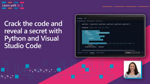 Crack the code and reveal a secret with Python and Visual Studio Code