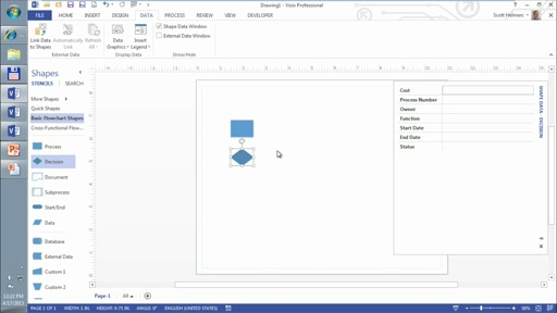 Becoming a Visio 2013 Power User - Part 2: (01) Leveraging Data in Business Diagrams