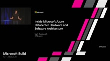 Inside Azure Datacenter Architecture with Mark Russinovich