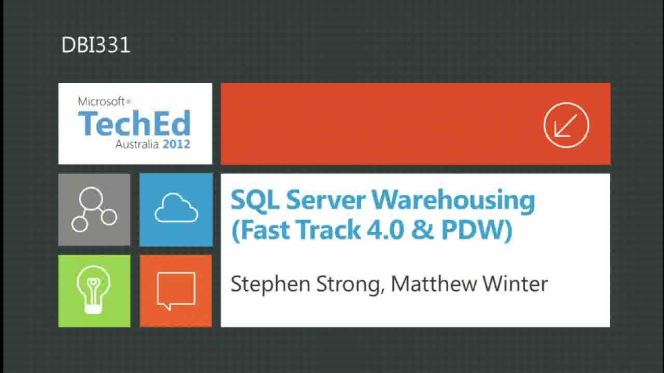 SQL Server Warehousing  (Fast Track 4.0 & PDW)
