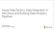 Data Integration in the Cloud and Building Data Analytics Pipelines