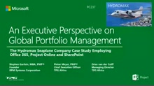 Executive Perspective on Global Portfolio Management:  The Hydromax Seaplane Company Case Study Employing Office 365, Project Server and SharePoint