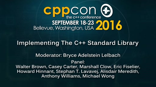 "CppCon 2016: ""C++ Standard Library Panel"""