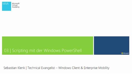 03| Scripting mit der Windows PowerShell