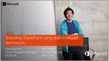PnP Web Cast - Branding SharePoint using add-in model techniques