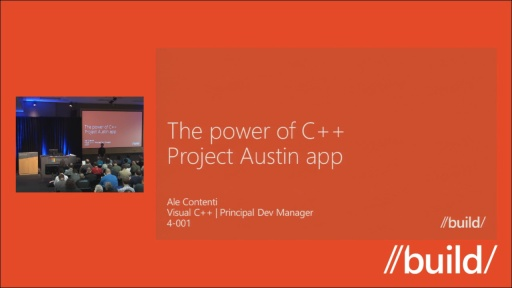 The power of C++ - Project Austin app