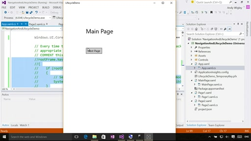 Windowing and in-App navigation