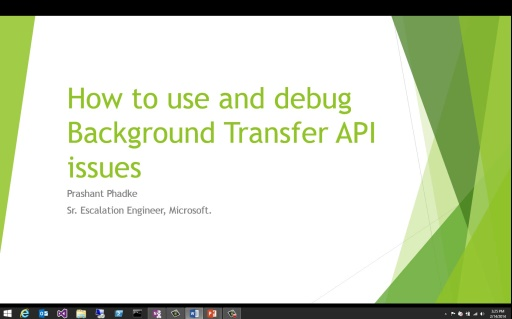 How to use and debug Background Transfer API issues