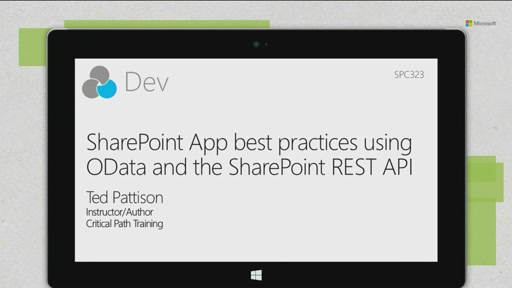 SharePoint App best practices using OData and the SharePoint REST API
