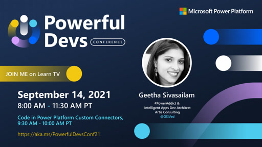 Code in Power Platform Custom Connectors with Geetha Sivasailam