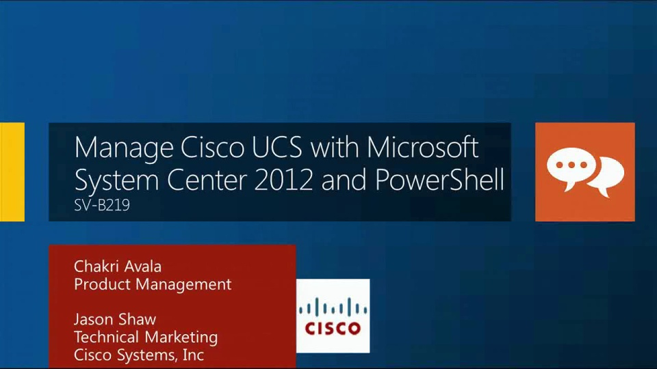 Manage Cisco UCS with System Center 2012 and PowerShell
