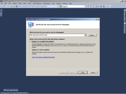 SharePoint 2010: le Sandboxed Solutions
