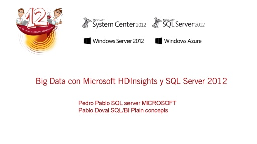 Las 12 horas de Datacenter 2012. SQL Server 2012. Big Data con Microsoft HDInsights y SQL Server 2012