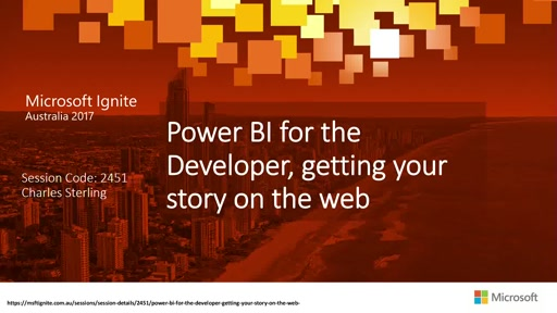 Power BI for the Developer, getting your story on the web