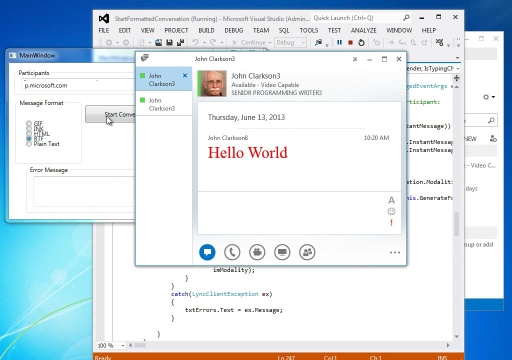Lync 2013: Add formatting to IM text (long version)