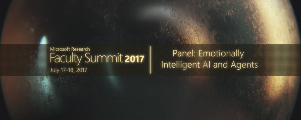 Video Abstract: Panel: Emotionally Intelligent AI and Agents