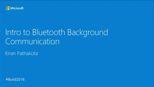 Intro to Bluetooth Background Communication