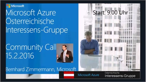 Azure Community Call - Februar 2016