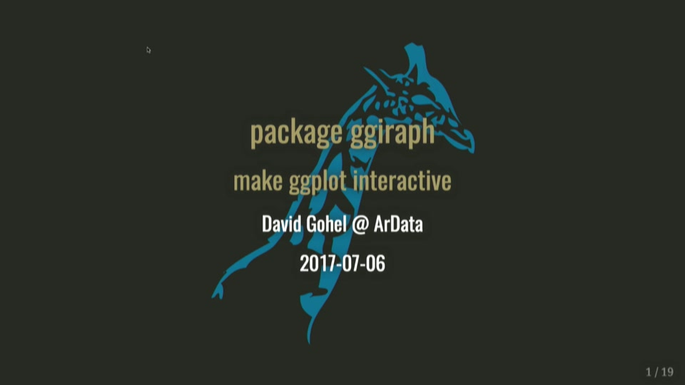 Package ggiraph: a ggplot2 Extension for Interactive Graphics