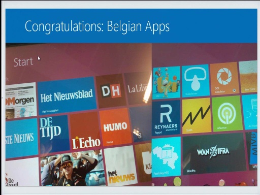 Windows Store: Top Learnings from the first Belgian Windows 8 Apps