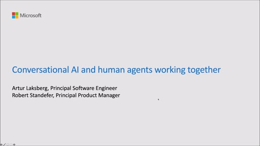 Conversational AI and human agents working together