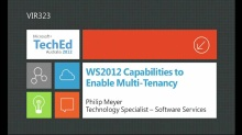 WS2012 Capabilities to Enable Multi-Tenancy