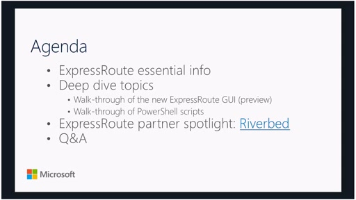 ExpressRoute Fridays 03/11/2016