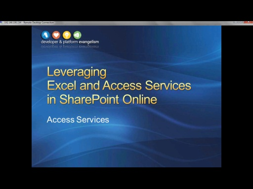 Session 5 - Part 2 - Leveraging Access Services in SharePoint Online