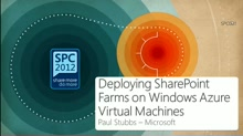 Deploying SharePoint Farms on Windows Azure Virtual Machines
