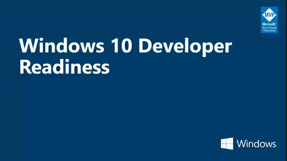 Windows 10 Developer Readiness: Aplicación Windows