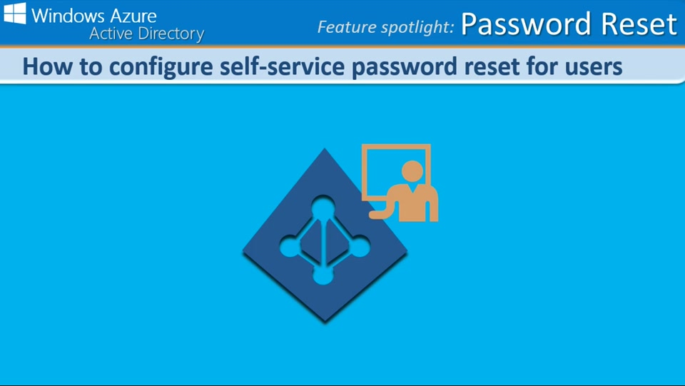 How to configure self-service password reset for users in Windows Azure AD