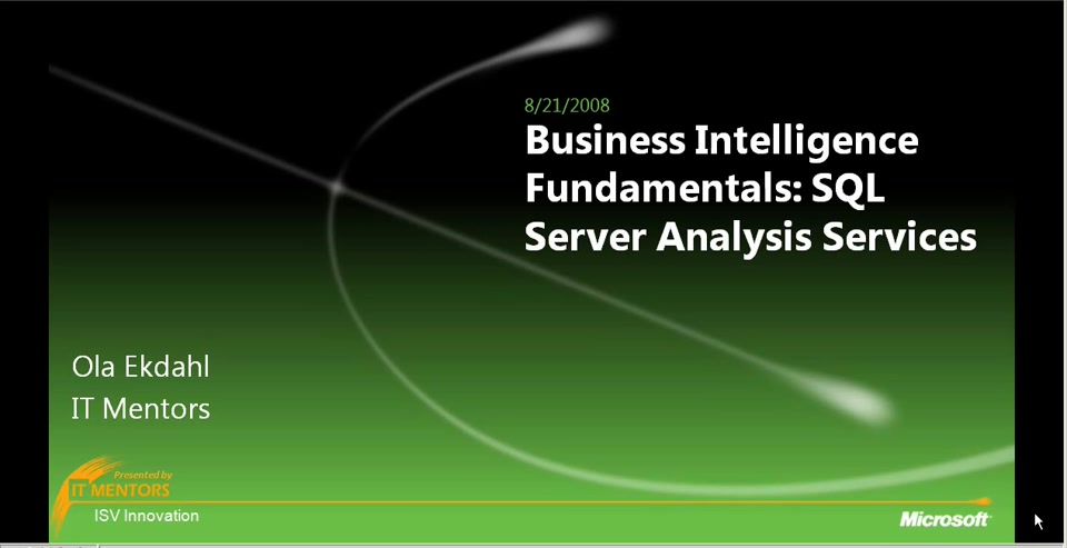 Новое в SQL Server 2008 Analysis Services