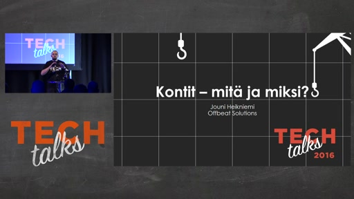 Tech Talks 2016 Dell EMC Stage Windows Containers Mitä ja miksi