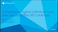 Authenticating a Windows Azure Web Site against an Office 365 Domain