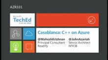 Casablanca: C++ on Azure