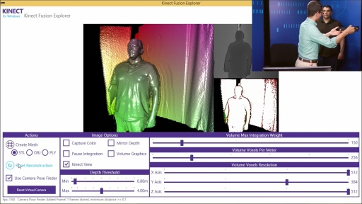 Programming Kinect for Windows v2: (05) Fusion, Face, HD Face