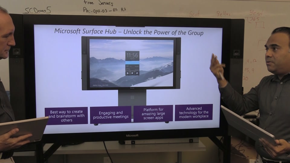 2015 10 05 mid day cafe surface hub is in the house mid day cafe channel 9 - Flat Panel Cafe 2015