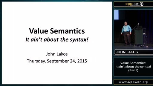 Value Semantics: It ain't about the syntax! Part I