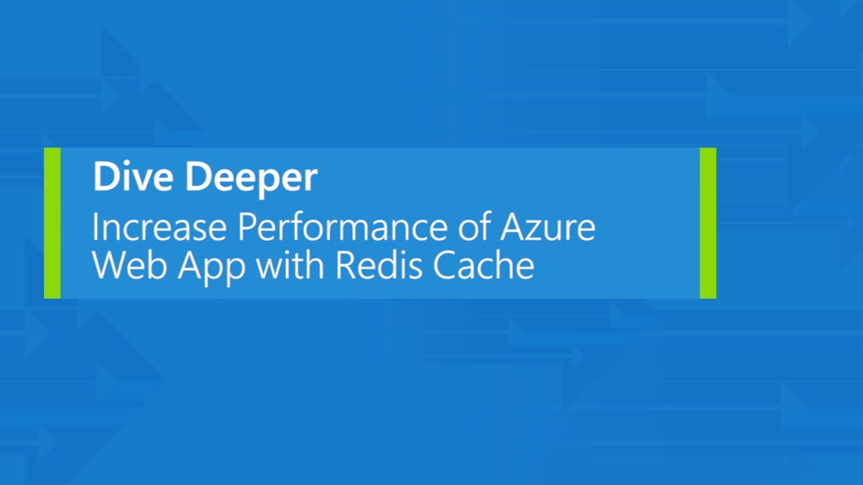 Increase performance of Azure Web App with Redis Cache