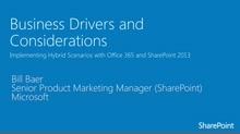 Module 1.1 Business Drivers and Considerations