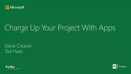 Charge-up Microsoft Project with Apps