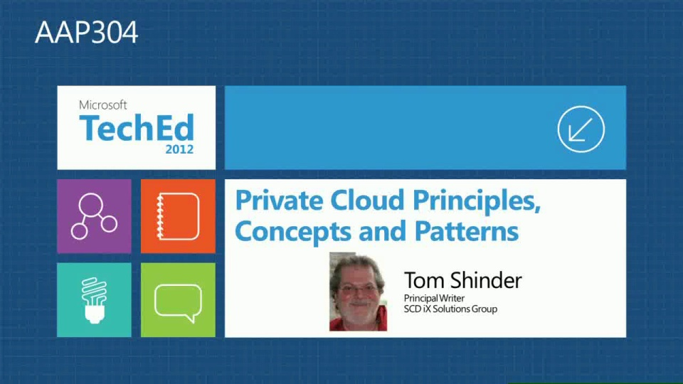 Private Cloud Principles, Concepts, and Patterns
