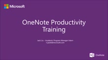 Section 1: Introduction to OneNote