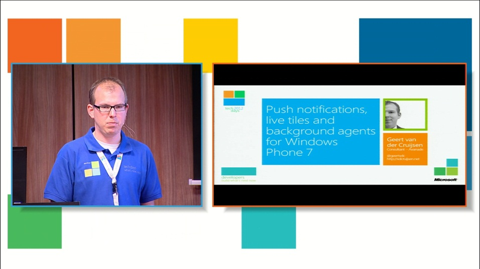 Push notifications, live tiles and background agents for Windows Phone 7
