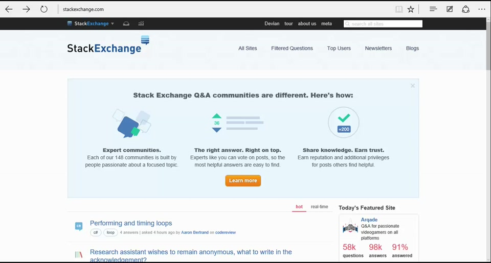 Part One - StackExchange Citizenship with Tom Stringer