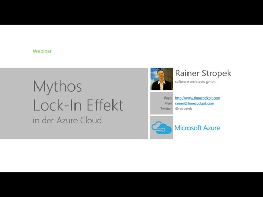 Mythos Lock-In Effekt in der Azure Cloud