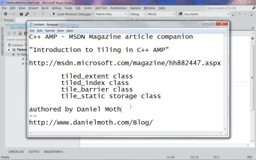Tiling Introduction - C++ AMP - msdn mag companion